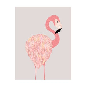 Image of Cheeky Flamingo Art Print