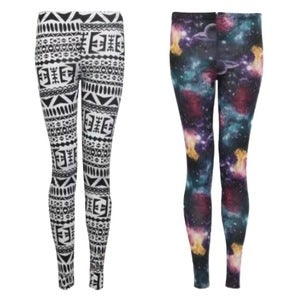 Image of Leggings (Aztec & Galaxy)