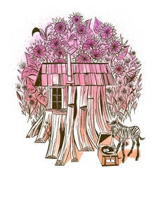 Image of Cedar Stump House Art Print