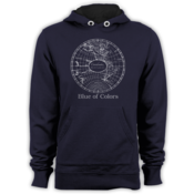 Image of Blue of Colors<br>'Coordinates'<br>Hoodie