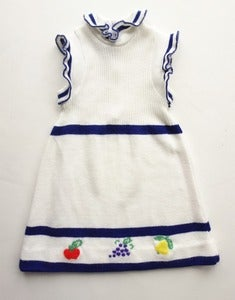 Image of Vintage Girls Sleeveless Knit Sweater Dress, 2 y.o.