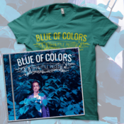Image of Blue of Colors<br>'Small Little Pieces'<br>CD & T-Shirt (Tri-Evergreen)