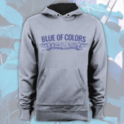 Image of Blue of Colors<br>'Small Little Pieces'<br>Hoodie (Heather Grey)
