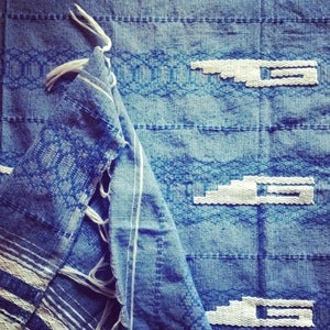 Image of Blue Throw/ Table Cloth