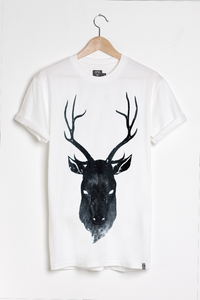 T-shirt design Stag - White