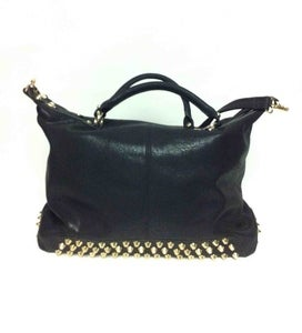 Image of Emily Studded Hobo Bag - Black