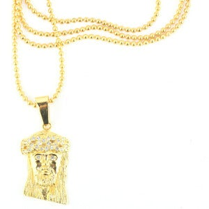 Image of Micro Jesus Piece in Gold