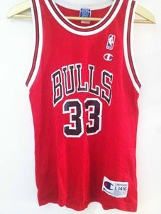 Image of Vintage Champion Pippen Jersey - Red