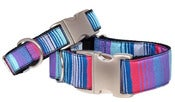 Image of Indigo Stripe - Dog Collar