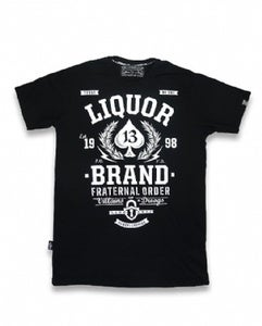 Image of Liquor brand mens tee