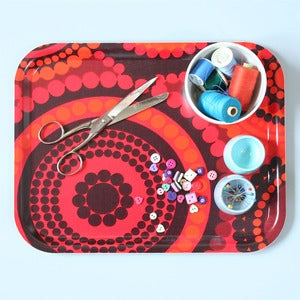 Image of Limited Edition Vintage Bright Dots Fabric Tray