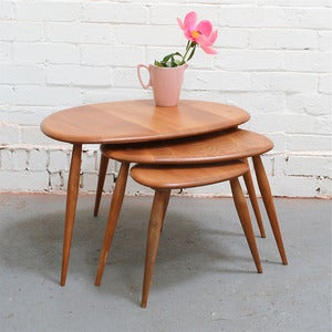 Image of Vintage Ercol Pebble Tables