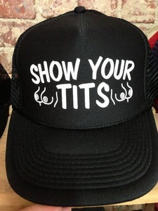 Image of Vintage Trucker hat Show Your TIts!