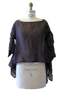 Image of Square Top in Sheer Brown Metallic