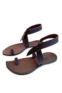 Image of CYDWOQ Daisy Sandal in Dark Chocolate