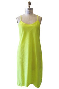 Image of Bias Slip Dress in Neon