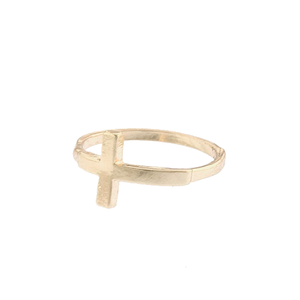 Image of Side Cross Midi Ring