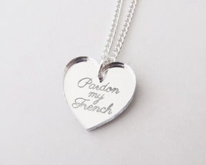 Image of Pardon My French Necklace - Silver