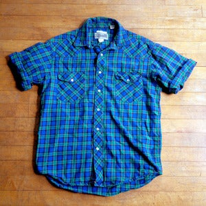 Western Plaid Short Sleeve Shirt