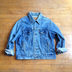 Distressed Levis Grunge Trucker Jacket