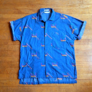 80's Print Short Sleeve Shirt