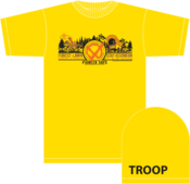 Image of 2013 Circle X Ranch FLSR LAAC - Tee Shirt - with Troop # Sleeve Print