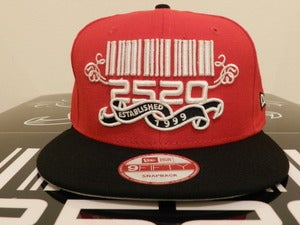 Image of 2520 Red & Black Custom SnapBack (The Beginning)