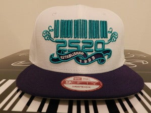 Image of 2520 Optic White & Purple Custom Snapback (The Beginning)
