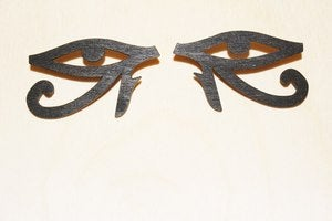 Image of EYE OF HORUS STUDS