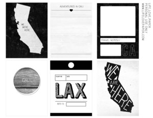 Image of *new* California printable journal cards