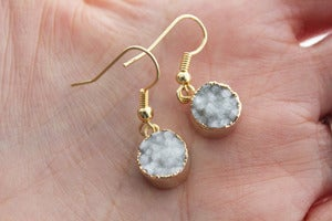 Image of NEW IN! TWINKLE Semi-Precious Ice Drusy Earrings.