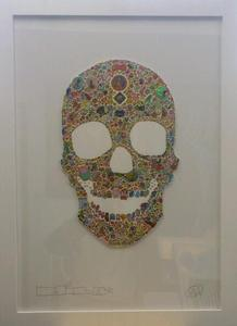 "Image of ""Skull"" Original Sticker Collage on Paper from MILO"