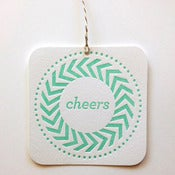 Image of Cheers Letterpress Gift Tag