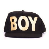 Image of BOY LONDON | Black/Gold BOY Snapback