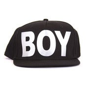 Image of BOY LONDON | Black/Silver BOY Snapback
