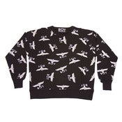 Image of BOY LONDON | Black/White Women's BOY Repeat Sweater