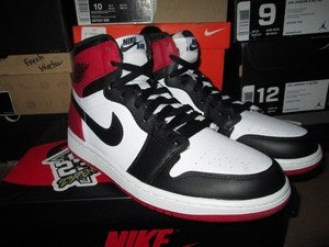 "Image of Air Jordan I (1) Retro HI ""Black Toe"""