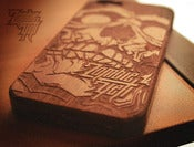Image of PRE-ORDER!!! 'Zombie Wood' Custom Laser Engraved Iphone5 Wood Case