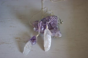 Image of Real Raw Crystal Wrapped Necklace *NEW*