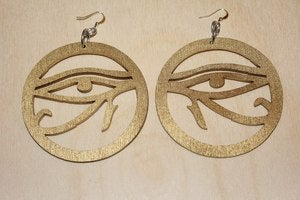Image of EYE OF HORUS DANGLE EARRING