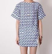 Image of Myrine Wave Print Tunic Dress