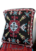 Image of BOHO Embroidered Cushion - Flora