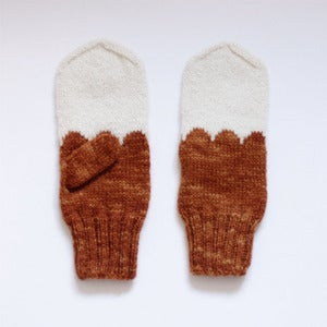 Image of Granliden MIttens: Lichen/Golden Brown