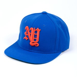 Image of New York OE Snapback Cap (Blue)