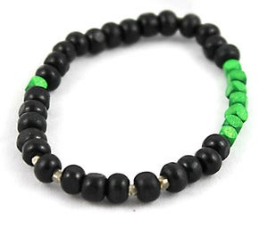 Image of Black & Green Stretch Bracelet