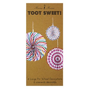 Image of Toot Sweet Pinwheel Decorations