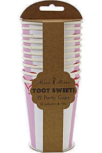 Image of Toot Sweet Stripe Paper Cups