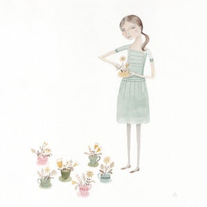 Image of Teacup Garden-original drawing