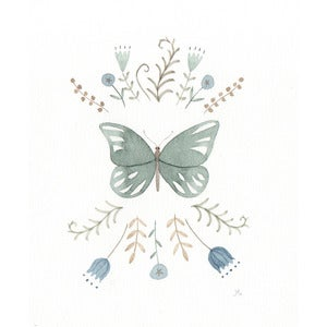 Image of Green Butterfly-original drawing
