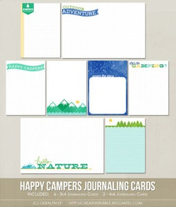 Image of *NEW* Happy Campers Journaling Cards (Digital)